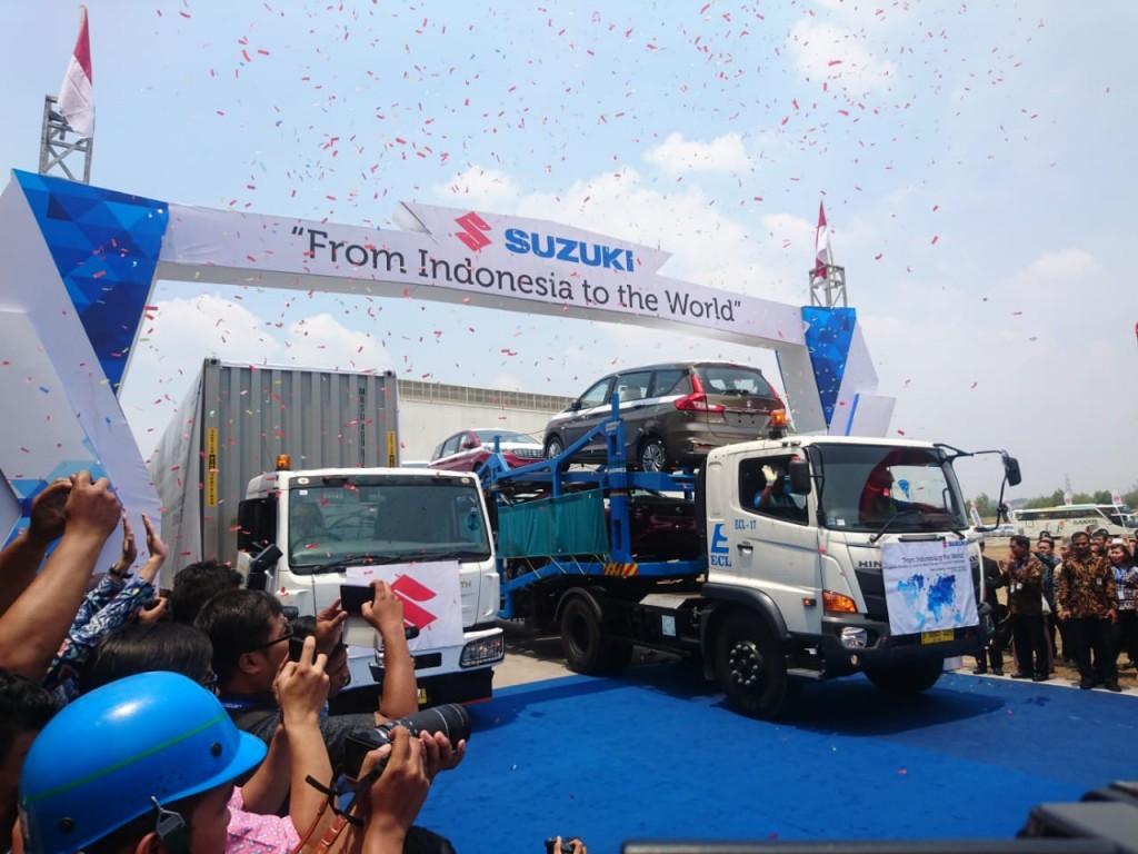 Suzuki mulai melakukan ekspor untuk All New Ertiga dan Nex II. Medcom.id/Ekawan Raharja
