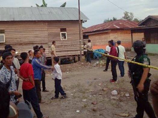Lokasi penggerebekan dua terduga teroris Tanjungbalai, Sumatera Utara. Istimewa