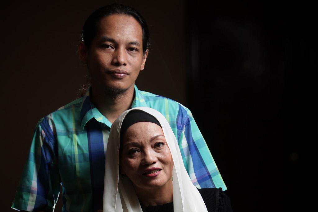 TIti Qadarsih bersama Indra Qadarsih (Foto: Media Indonesia/Sumaryanto)