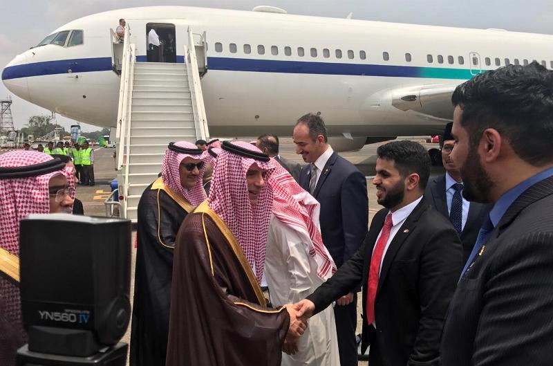 Menteri Luar Negeri Arab Saudi Adel Al-Jubair tiba di Jakarta. (Foto: Kedubes Arab Saudi).