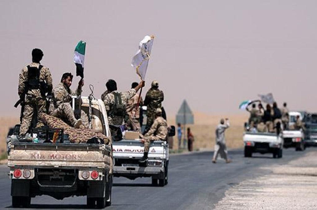 Pasukan Demokratik Suriah (SDF) di Raqqa, Suriah. (Foto: AFP)