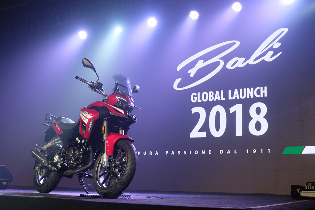 Benelli menghadirkan TRK251 untuk pertama kalinya di Indonesia. Medcom.id/Ekawan Raharja