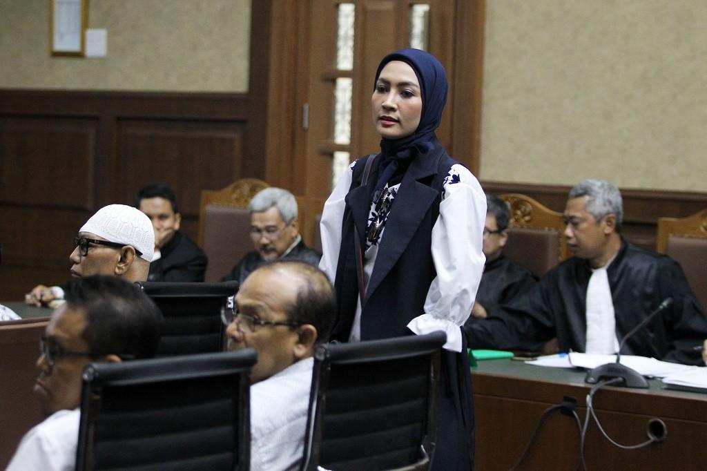 Steffy Burase, orang dekat Gubernur Aceh Irwandi Yusuf. Foto: Medcom.id/Damar Iradat.