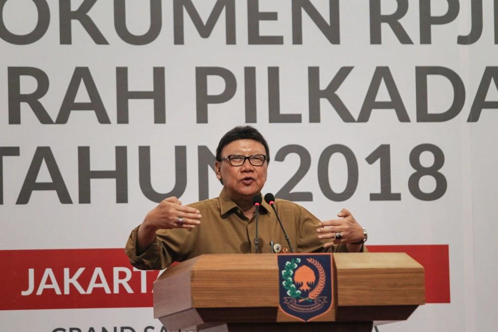 Menteri Dalam Negeri Tjahjo Kumolo. Foto: MI/Pius Erlangga.