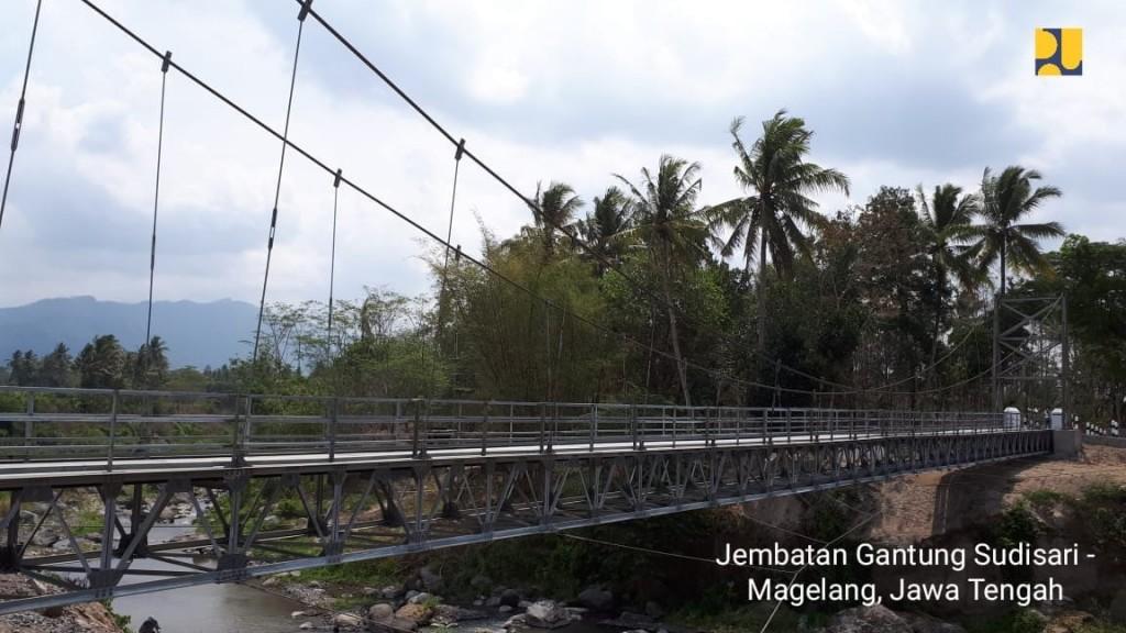 Jembatan gantung Sudisari, Magelang Jateng. Istimewa