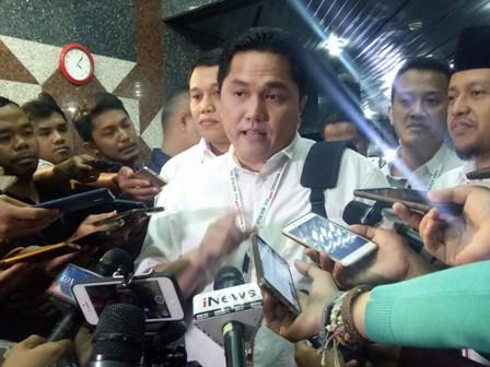 Ketua TKN Jokowi-Ma'ruf Erick Thohir. Medcom.id/Arga Sumantri
