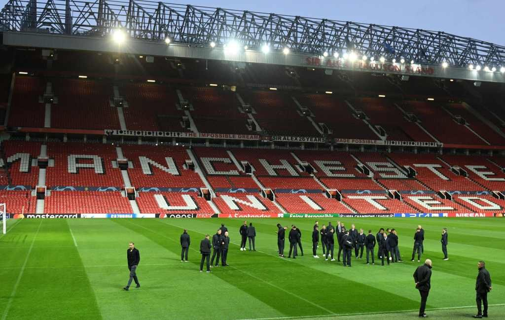 Suasana jelang Manchester United vs Juventus (Foto: AFP/Oli Scarff)
