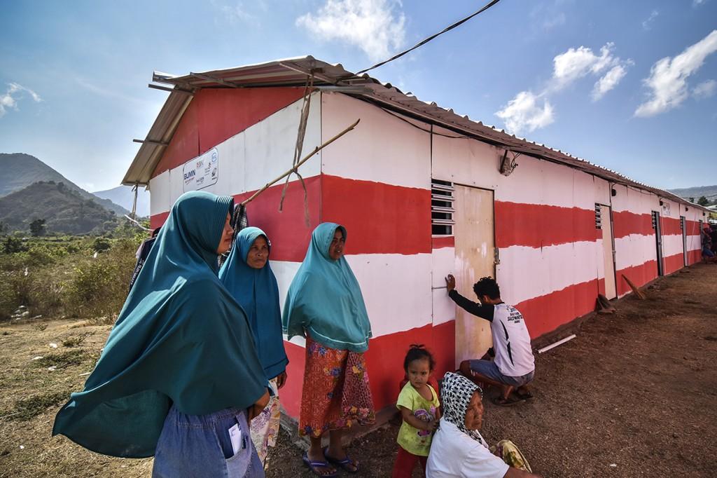 Bank BUMN Bersinergi Bangun Huntara untuk Korban Gempa Lombok