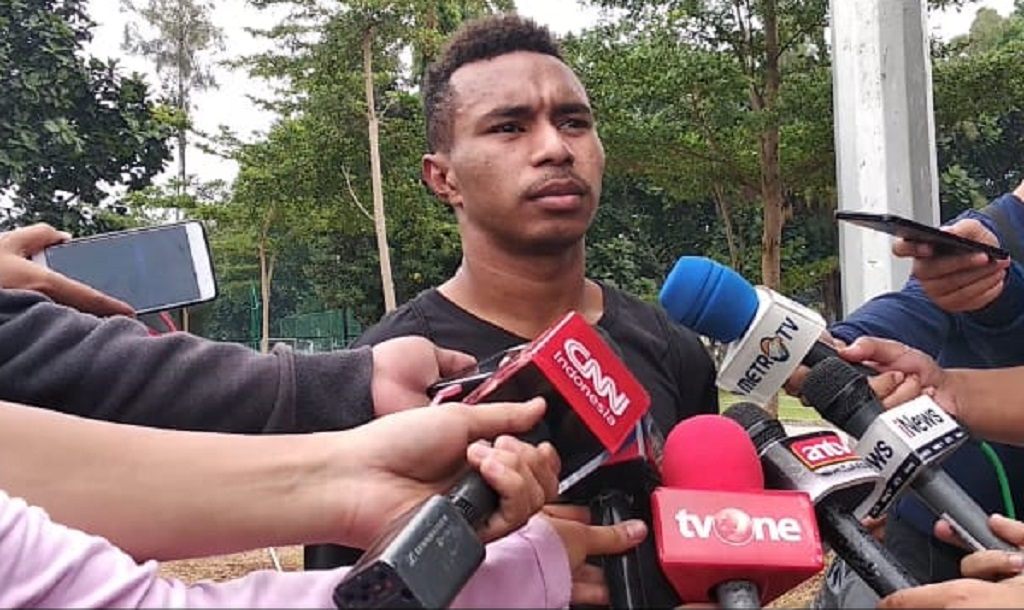 Penggawa Timnas Indonesia U-19 Todd RIvaldo Ferre (Medcom/Rendy Renuki H)