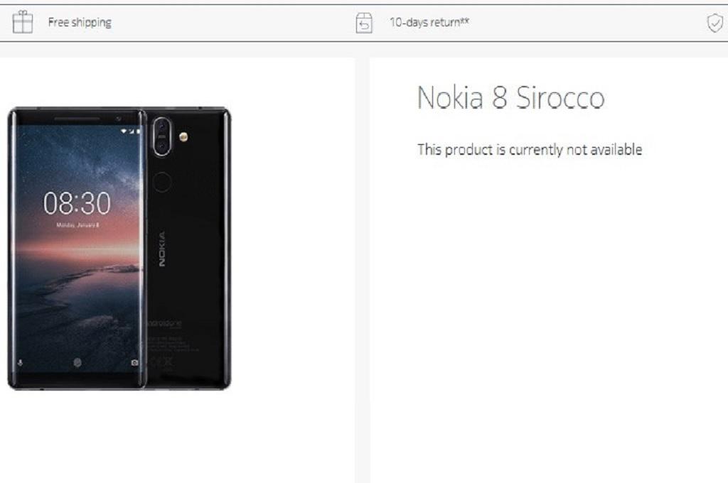 Absennya unit produk Nokia 8 Sirocco di situs ritel resmi Nokia menimbulkan spekulasi HMD Global diam-diam menghentikan produksinya.