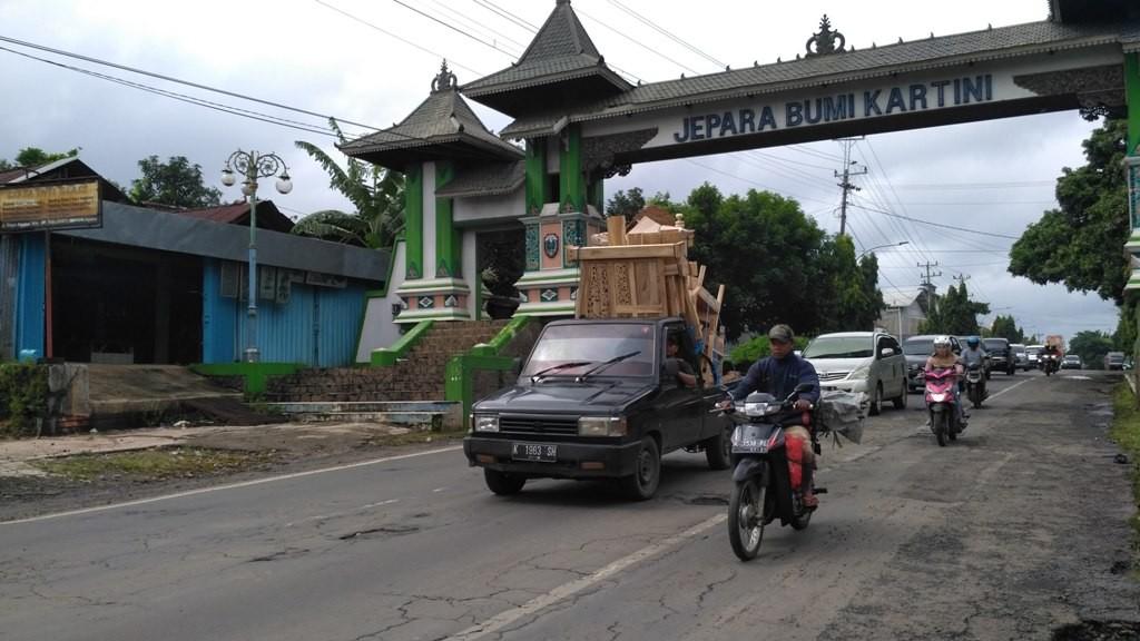 Gapura selamat datang Jepara Bumi Kartini