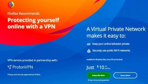 Mozilla Tawarkan VPN