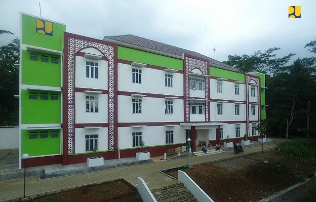 Rusunawa untuk santri di Ponpes Miftaul Khoer, Tasikmalaya. dok. Kementerian PUPR