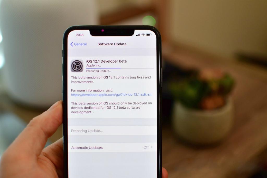 Apple kembali menggulirkan  iOS 12.1 versi pengembang kelima dan versi beta publik.