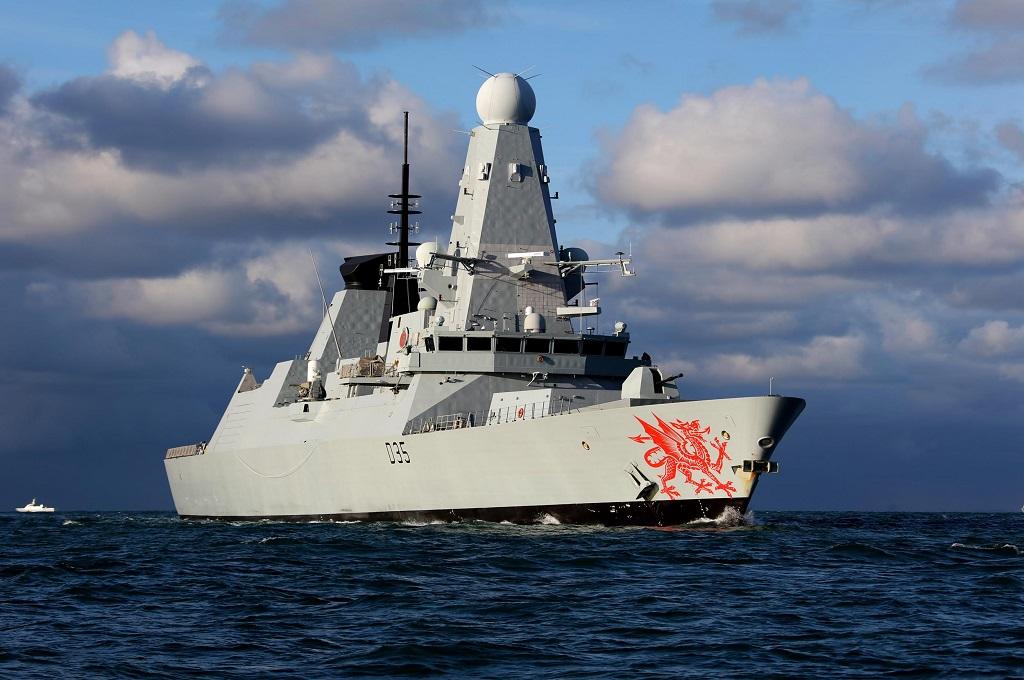 Kapal HMS Dragon milik Angkatan Laut Inggris. (Foto: Britain Ministry of Defence)
