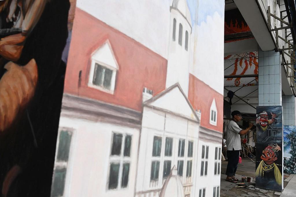 Lukisan Mural Percantik Kota Tua Jakarta