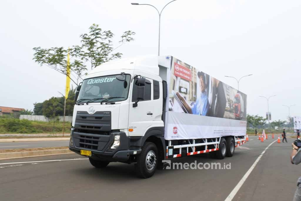 Peserta UD Trucks Extra Mile Challenge Indonesia, diwakili Eko Yulianto. Dok medcom.id