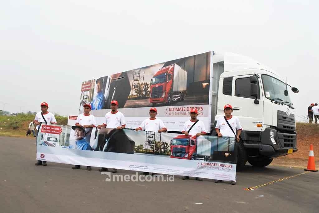 Peserta UD Trucks Extra Mile Challenge berasal dari Asia dan Australia. Dok Medcom.id