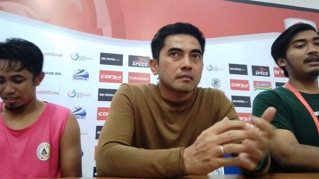 Pelatih PSS Seto Nurdyantoro-Medcom.id/Ahmad Mustaqim