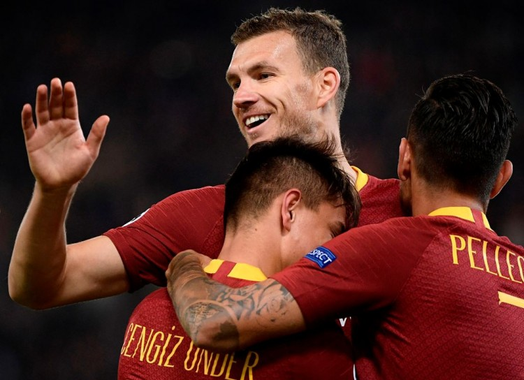 Brace Edin Dzeko Bantu Roma Hancurkan CSKA