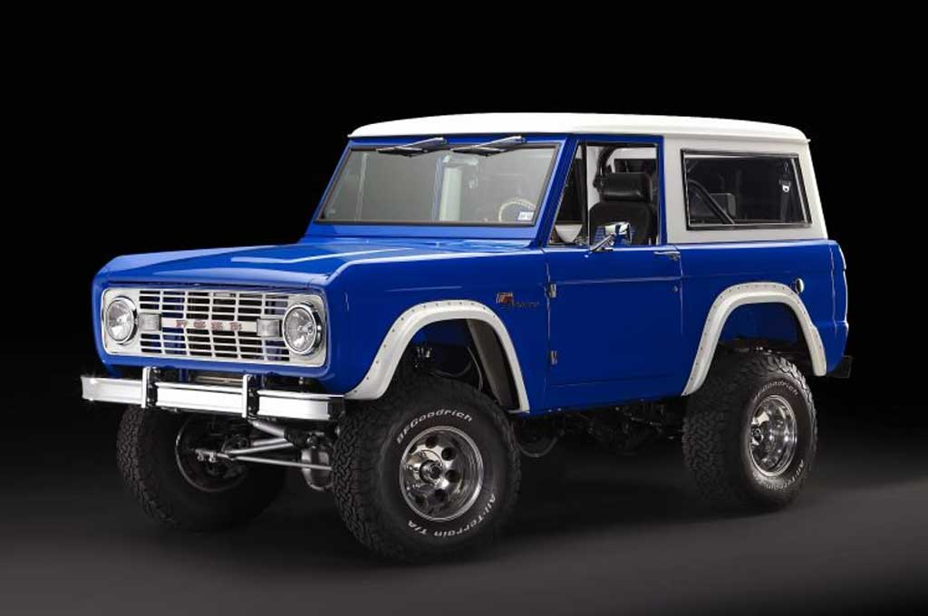 Ford Bronco 1966 bernuansa biru disiapkan untuk menjeng di SEMA. Carscoops