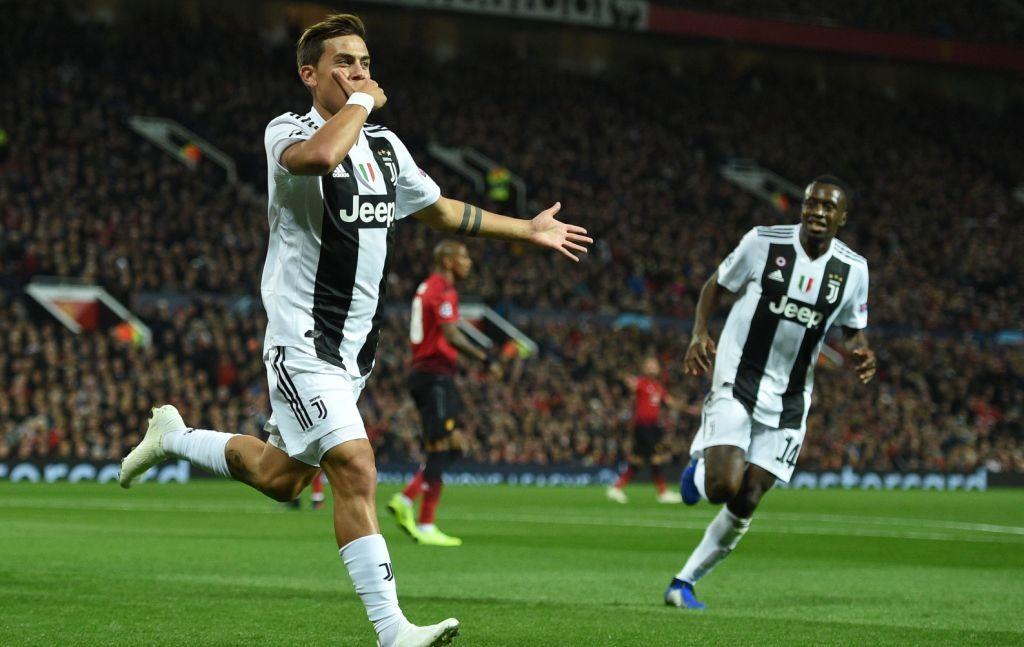 Paulo Dybala menjadi pahlawan kemenangan buat Juventus atas Manchester United (Foto: AFP/Oli Scarff)