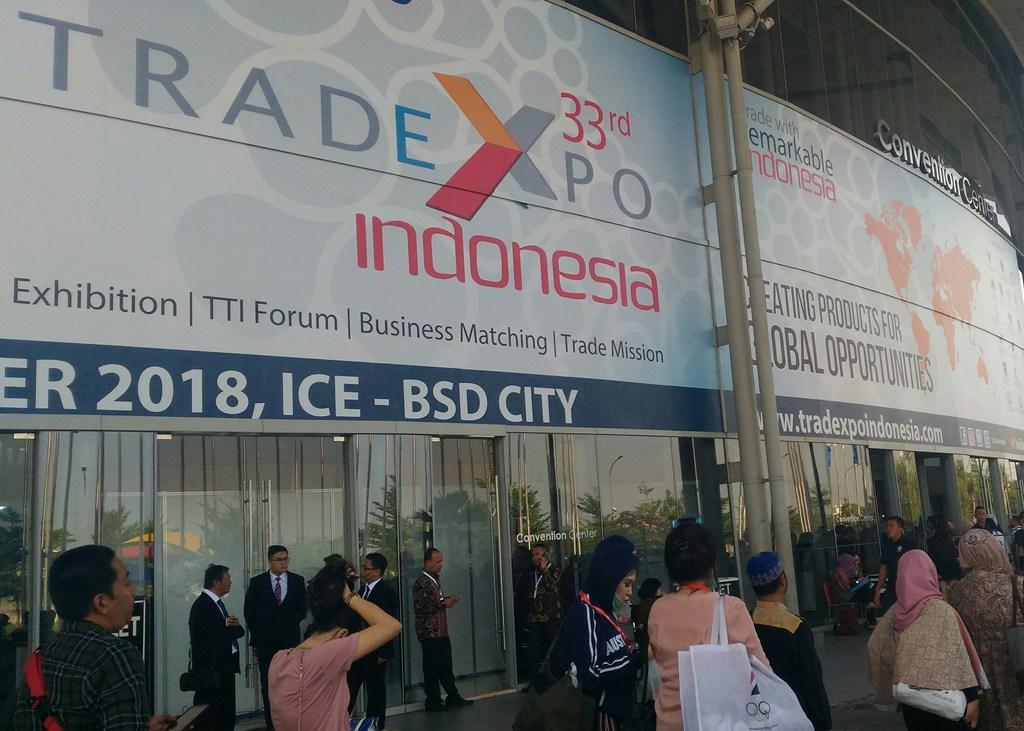 Para pengunjung di Trade Expo Indonesia (TEI) ke-33 (Foto: Medcom.id/Ilham Wibowo)