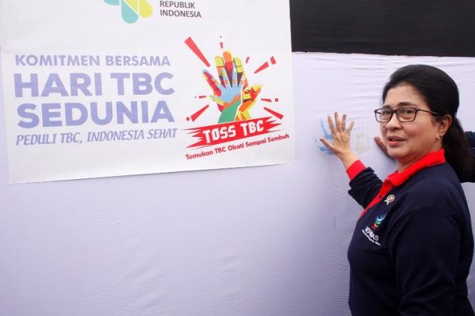The Health Affairs Minister Nila Moeloek. (Photo: Media Indonesia).