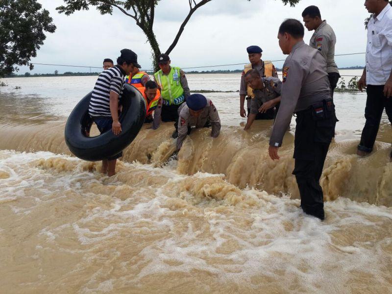 Banjir di wilayah pantai utara Brebes, Jawa Tengah. (Medcom.id/Kuntoro Tayubi)