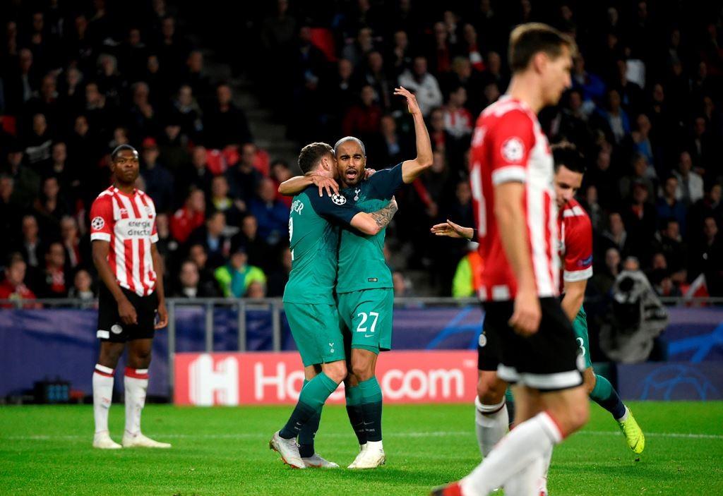 PSV vs Tottenham (Foto AFP/JOHN THYS)
