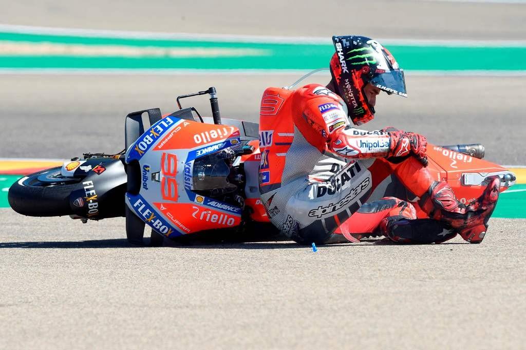 Pembalap Ducati Jorge Lorenzo (Foto: AFP/JOSE JORDAN)