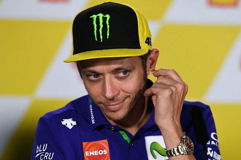 Pembalap Movistar Yamaha Valentino Rossi (Foto: AFP)