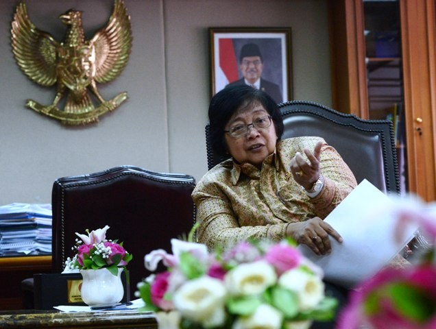 Menteri Kehutanan dan Lingkungan Hidup Siti Nurbaya. Foto: MI/Irfan.