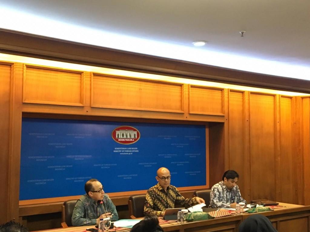 Jumpa pers terkait Our Ocean Conference 2018 di Jakarta. (Foto: Medcom.id/Sonya Michaella).