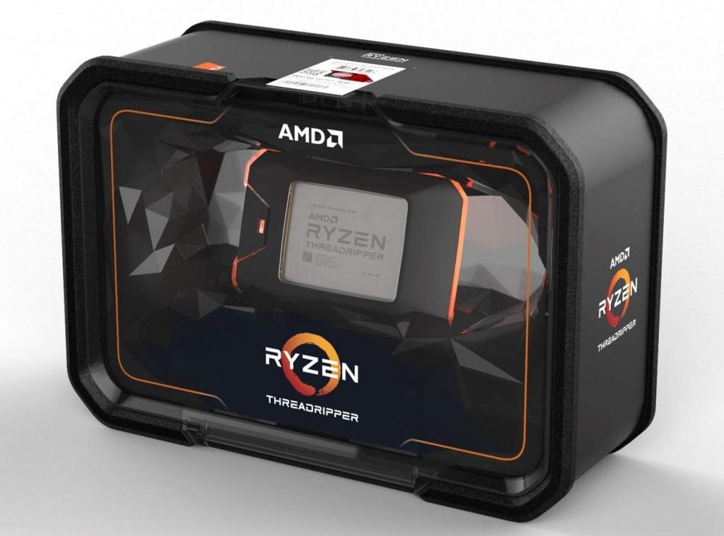 Boks paket penjualan AMD Ryzen Threadripper 2000 Series.
