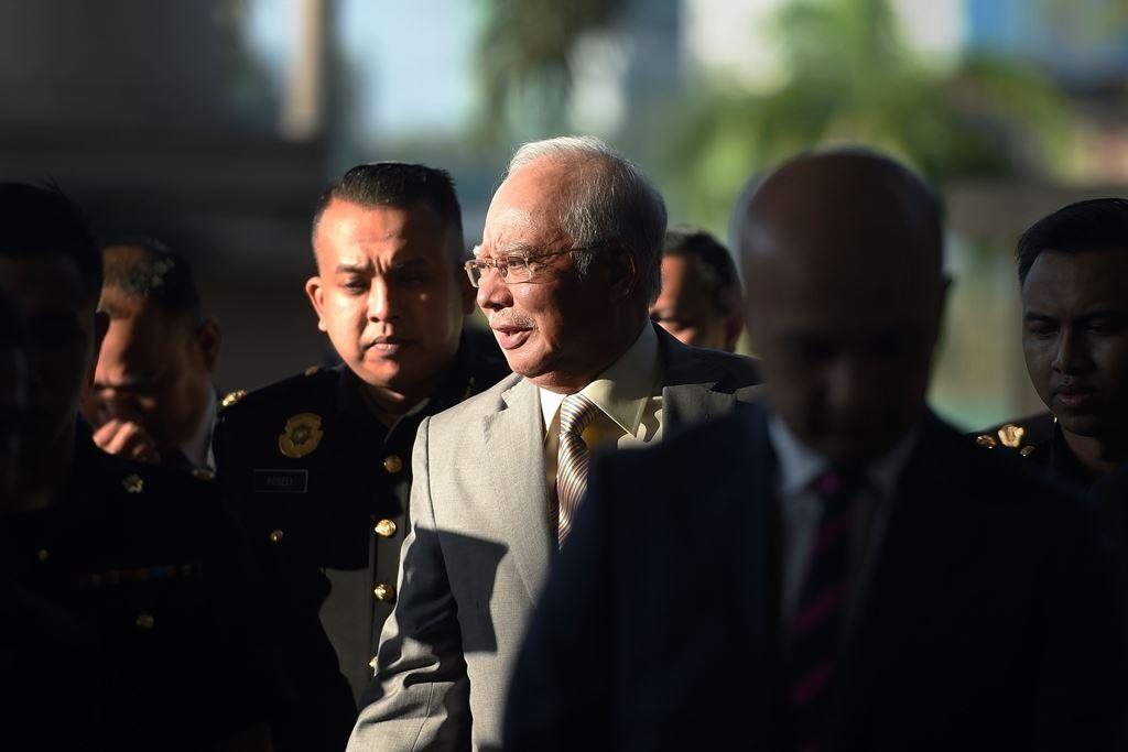 Mantan Perdana Menteri Malaysia Najib Razak. AFP/Mohd Rasfan.