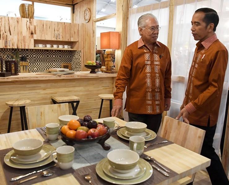 Indonesian President Joko Widodo at Trade Expo Indonesia in Tangerang. (Photo: Antara).