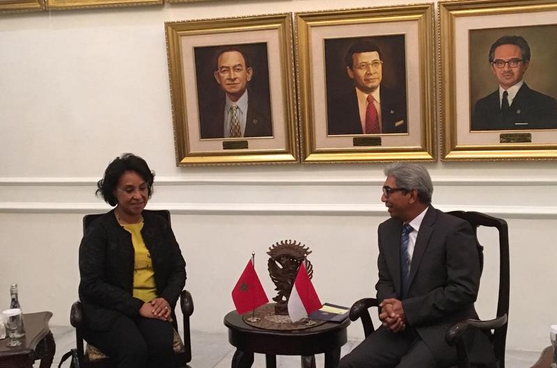 Pemerintah Indonesia undang Raja Maroko untuk berkunjung. Ini disampaikan oleh Wamenlu AM Fachir ke Wamenlu Maroko. (Foto: Sonya Michaella/Medcom.id).
