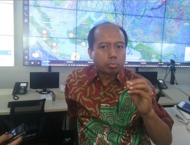 Kepala Pusat Data Informasi dan Humas Badan Nasional Penanggulangan Bencana (BNPB) Sutopo Purwo Nugroho--Medcom.id/Achmad Zulfikar Fazli.
