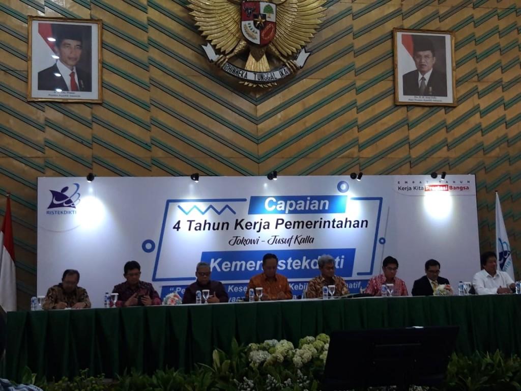 Konferensi Pers Capaian Kinerja Kemenristekdikti di Empat Tahun Pemerintahan Jokowi_JK, Medcom.id/Intan Yunelia.