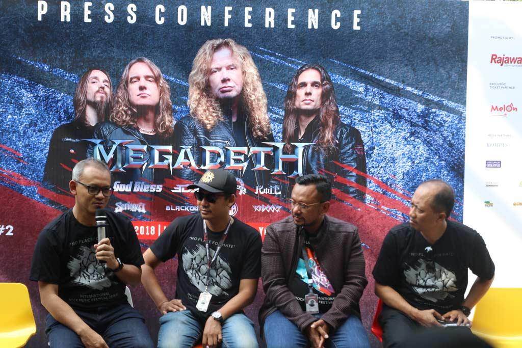 Jumpa pers Megadeth di Hyatt Regency, Yogyakarta, Jumat, Oktober 2018 (Foto; Medcom.id/Shindu Alpito)