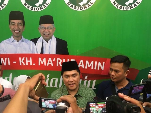 Ketua Tim Kampanye Nasional (TKN) Jokowi-KH Ma'ruf Amin, Erick Thohir. Foto: Medcom.id/Amaluddin