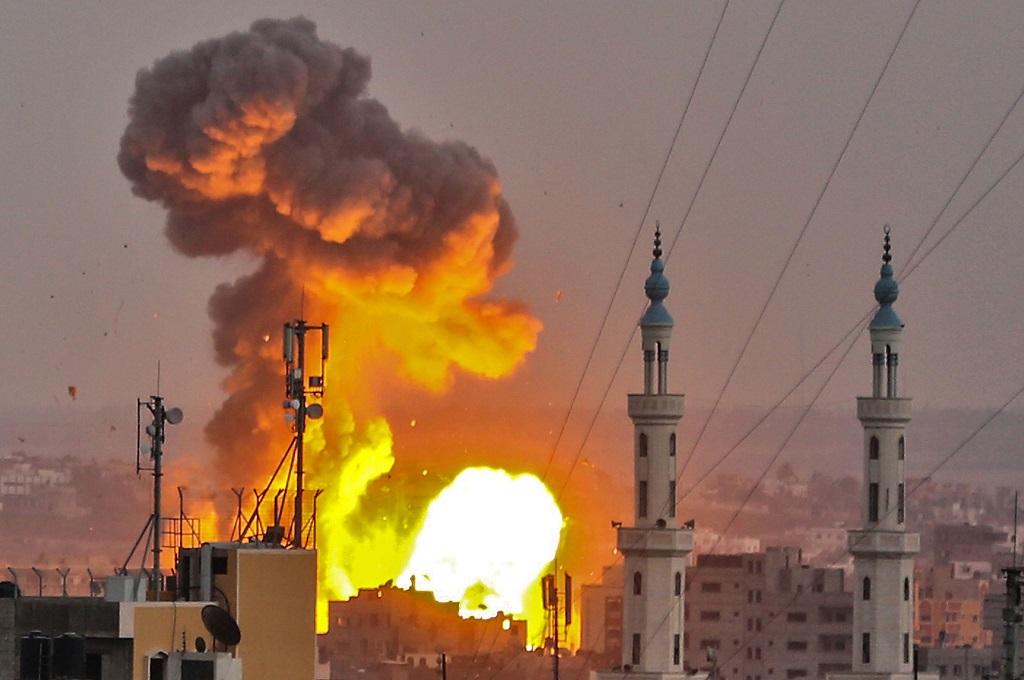Serangan udara Israel ke Gaza pada Juli 2018. (Foto: AFP)