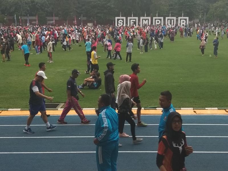 Pemerintah Kota (Pemkot) Bogor berusaha menjadikan Lapangan Sempur sebagai ikon Bogor menuju kota wisata olahraga. Medcom.id/Rizky Dewantara
