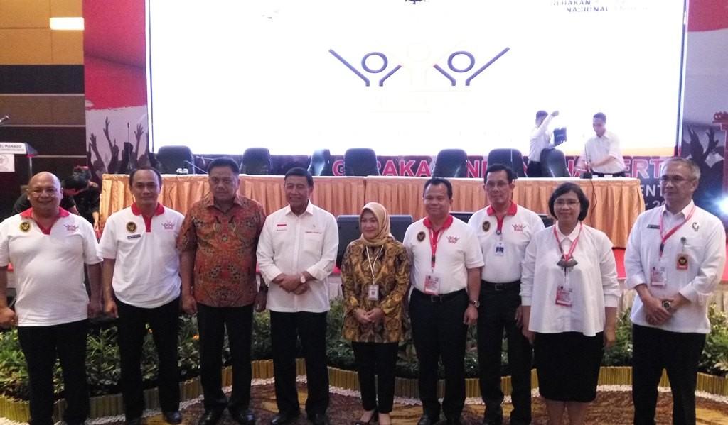 Pekan Kerja Nyata Revolusi Mental (PKNRM) 2018, Rembuk Nasional Gerakan Indonesia Tertib, di Hotel Novotel, Manado, Sulawesi Utara, Sabtu, 27 Oktober 2018 (Foto:Medcom.id/Anggi Tondi Martaon)