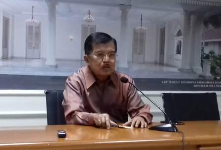 Ketua Dewan Pengarah TKN-KIK Jusuf Kalla. Foto: Medcom/Desi Anggraini
