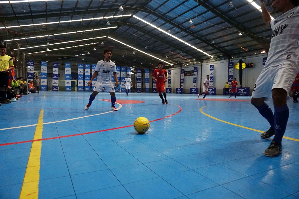 Suasana laga Mizuno University Futsal Tournament 2018. (Foto: Istimewa)
