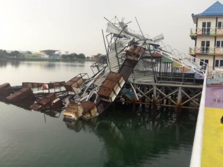 Fasilitas Jakabaring Sport City Rusak Dihantam Angin Kencang