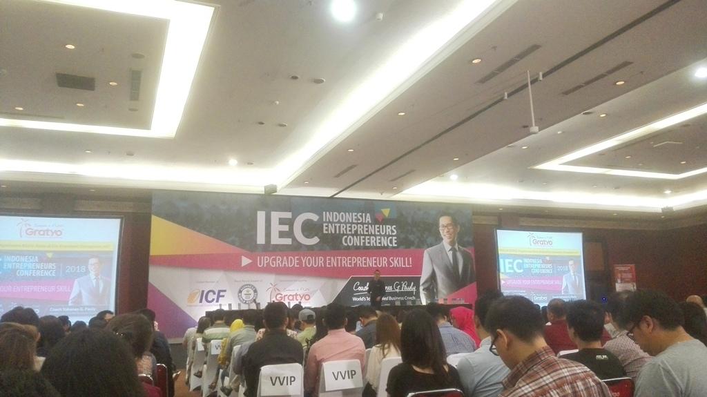 Suasana Indonesia Entrepreneurs Conference (Foto: Medcom.id/Suci Sedya Utami)