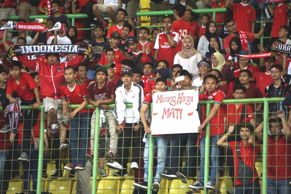 Suporter timnas Indonesia. (Foto: Medcom.id/Zam)